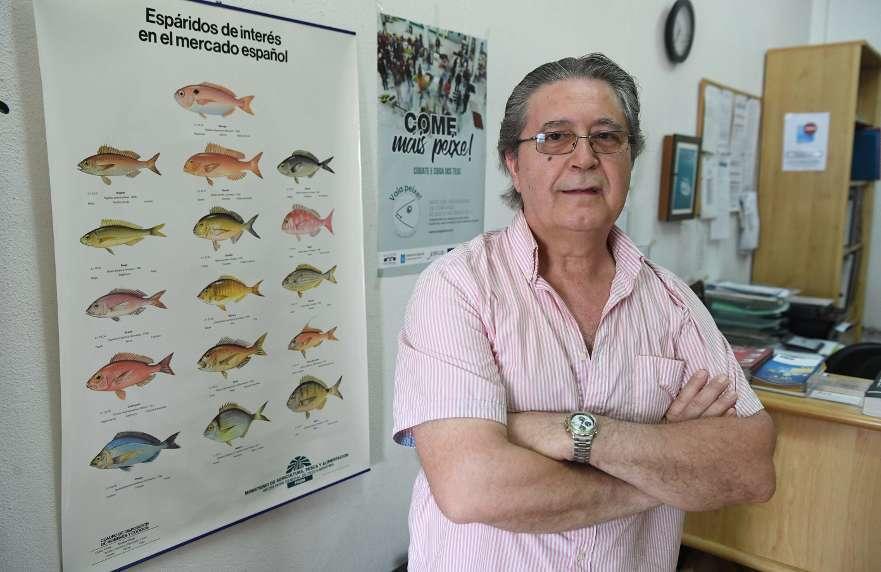 Amando López, presidente de la Asociación de Minoristas, en la sede de la entidad - Fotografía de Victor Echave